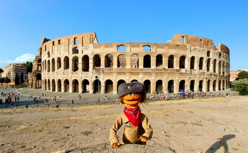 Jimmy e il Colosseo a Roma