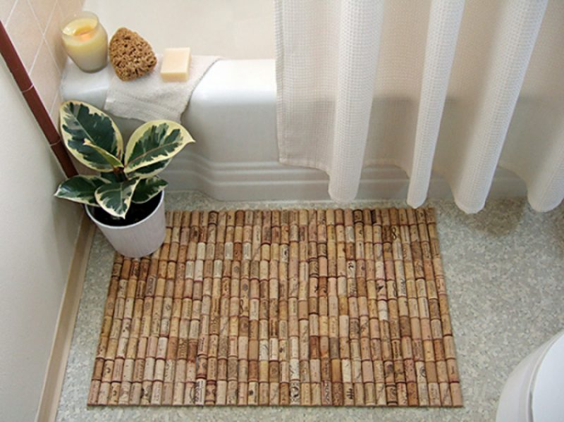 come creare un tappeto con i tappi di sughero