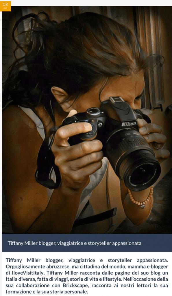 intervista tiffany miller blogger italia abruzzo