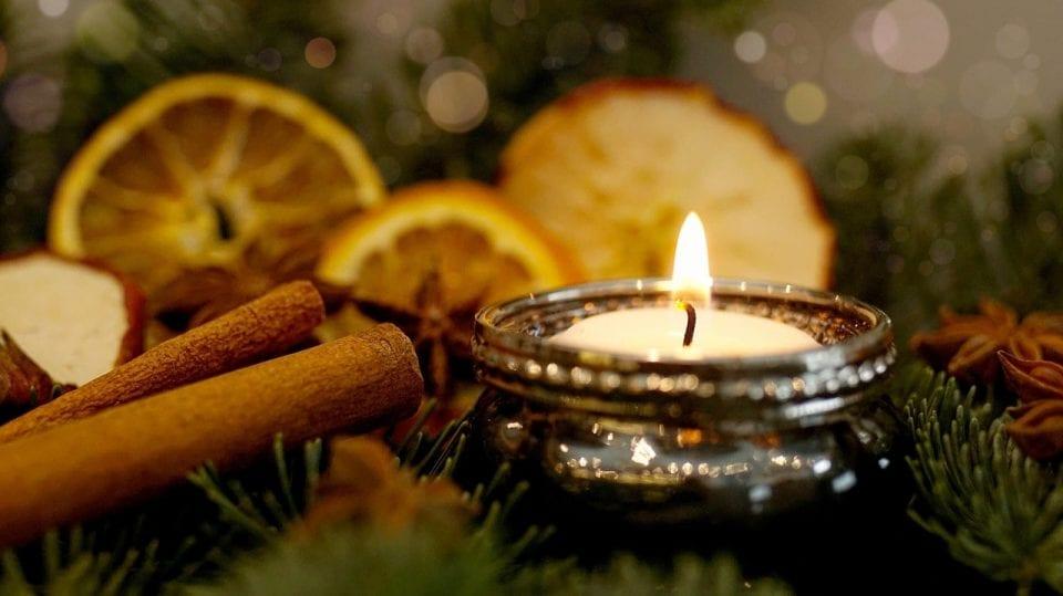 candele tavolo di Natale