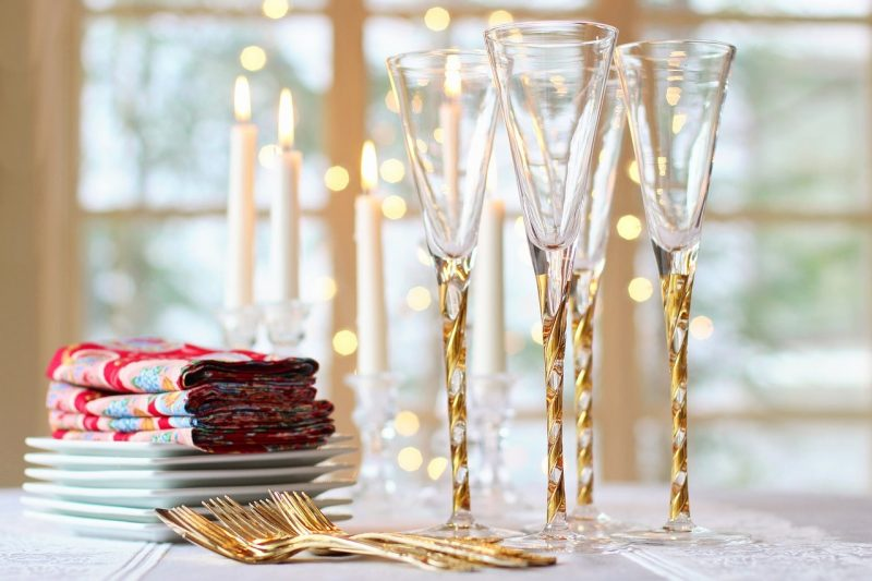 bicchieri per il Natale