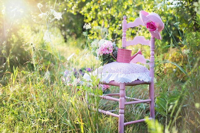 sedia shabby chic giardino