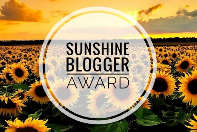 blogger sunshine award